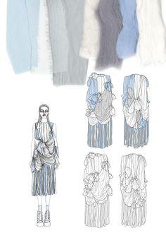 Fashion Illustration Design Personalized Photo Charms Compatible with Pandora Bracelets. Sketchbook Layout, Textiles Sketchbook, Fashion Design Sketchbook, Fashion Design Portfolio, Fashion Sketches, Dress Sketches, Drawing Fashion, Fashion Collage, Fashion Art