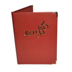 Hydra Recycled Leather Menu Covers - Restaurant Menus - Christmas Hotel Ideas…