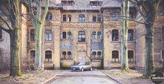 #old psychiatric #hosptital - #leipzig #bmw #e32