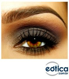 Sombra cinza com rosa vinho para realçar seu olhar #makeup #maquiagem