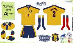 Scotland away kit for the 1998 World Cup Finals.