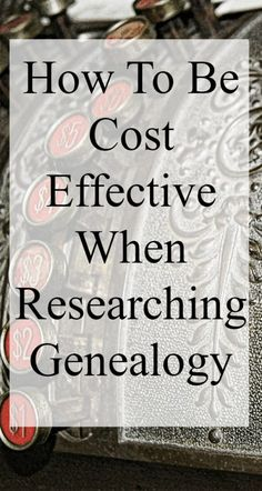 Genealogy research does not have to be expensive. Many free and low cost options are available for the researcher. Free Genealogy Sites, Genealogy Search, Genealogy Forms, Family Genealogy, Family Tree Research, Genealogy Organization, File Organization, Organizing, My Family History