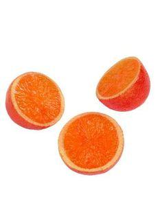 Halbe Deko-Orangen ca. 7 cm Ø