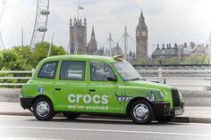 Crocs unveils taxi advertising with Ubiquitous to celebrate tenth year