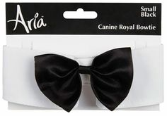 The Aria Canine Royale Bowtie Black Satin allows you to dress your pup in style for its next formal, black tie event. #dogs