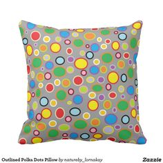 Outlined Polka Dots Pillow