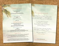 Beach Wedding Welcome Itinerary Destination by Idowithyou on Etsy