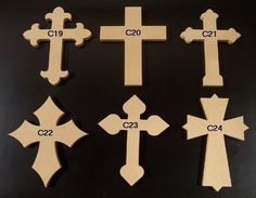 10 12 x 16 Inch Unfinished Wooden Crosses, Choose from 24 different Crosses, 3 thickness, Ready to Paint, 1/2 and 3/4 have key holes. 6-4-13