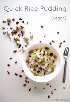 Quick Rice Pudding for lazy days and leftovers! (vegan) | curlsnchard.com