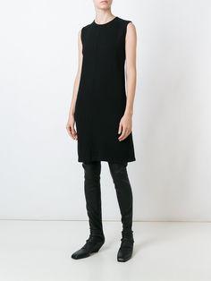 Rick Owens DRKSHDW round neck sleeveless dress