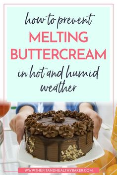 Struggling to prevent melting American buttercream in hot weather? Read for tips on how to Prevent Melting Buttercream in Hot and Humid Weather. Cake Decorating Company, Cake Decorating Books, Creative Cake Decorating, Creative Cakes, Decorating Ideas, Buttercream Recipe, Chocolate Buttercream, Frosting Recipes, Frosting Tips