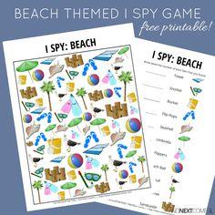Looking for free printable I spy games for kids? I love this beach I spy game printable. Spy Games For Kids, I Spy Games, Free Games, Beach Themed Crafts, Beach Crafts, Summer Crafts, Summer Fun, Beach Activities, Preschool Activities