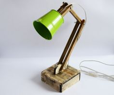 Adjustable lamp Wooden lamp Reading lamp Lampe by WoodRestart Edison Lampe, Best Desk Lamp, Handmade Lamps, Rustic Lamps, Room Lamp, Bed Room, Wooden Lamp, Desk Light, Unique Lamps