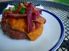 Paleo: Mexican Inspired Burgers. These were SO good! I loved the avocado & roasted red pepper sauce!