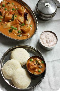 Potato and Peas Kurma Recipe   How to Make Vegetable Kurma