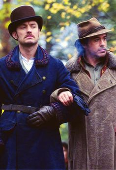 Jude Law and Robert Downey, Jr. in Sherlock Holmes: A Game of Shadows