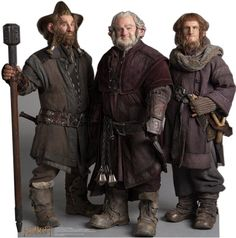 Nori, Dori, and Ori The Dwarfs - The Hobbit Lifesize Standup