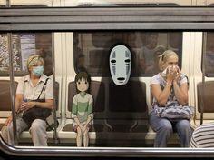 Sen to Chihiro no kamikakushi 千と千尋の神隠し Howl's Moving Castle, Anime In, Real Anime, Totoro, Aesthetic Japan, Japanese Art, Japanese Landscape, Studio Ghibli, Cute Drawings