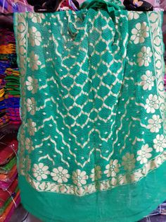Indian Clothes, Indian Outfits, Bandhani Saree, Colour Combinations, Sarees, Prints, Color, Fashion, Tapestries