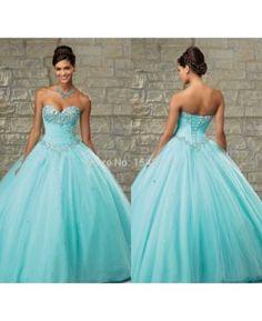 vestidos de princesas para debutantes e noivas azul bebe