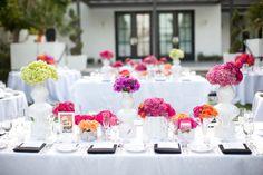 Vibrant flower arrangements