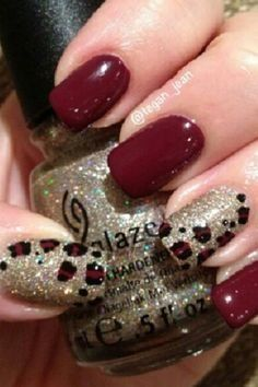 Having short nails is extremely practical. The problem is so many nail art and manicure designs that you'll find online Get Nails, Fancy Nails, Love Nails, Trendy Nails, Farmasi Cosmetics, Burgundy Nails, Maroon Nails, Black Nails, Black Manicure