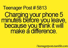 I always do this!