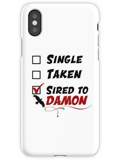 Sired to Damon iPhone X Snap Case