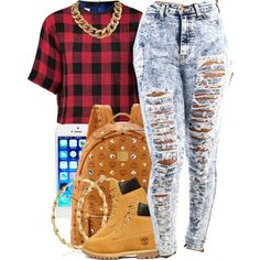 A fashion look from November 2014 featuring rag & bone t-shirts, Timberland ankle booties and MCM backpacks. Browse and shop related looks.