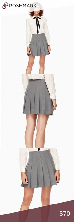 Kate Spade Pleated Twill Skirt Simple, polished and super-flattering, this pleated twill skirt makes a great addition to your work wardrobe. kate spade Skirts