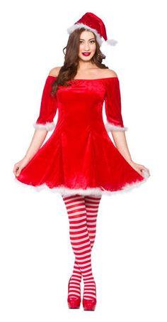bc4238705d70 Mrs Santa Claus & Helper Elf Ladies Fancy Dress Christmas Womens Adults  Costume