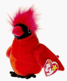 Mint w// Tag Ty Beanie Babies Mac the Red Robin 1999 PE Pellets