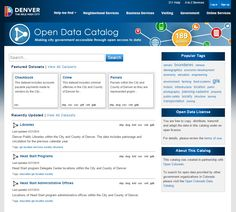 The Denver Open Data Catalog provides open access to data managed by the City and County of Denver. Open Data, City Government, Denver, The Neighbourhood, Catalog, Construction, Building, The Neighborhood, Brochures