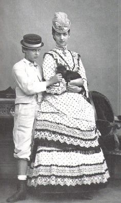 King Edward VII's wife Queen Alexandra) of Denmark and her younger brother circa 1871Waldemar.