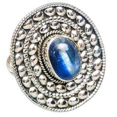 Large Rare Kyanite 925 Sterling Silver Ring Size 8.25 RING768993
