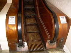 Wooden escalator - remember these in old fashioned stores