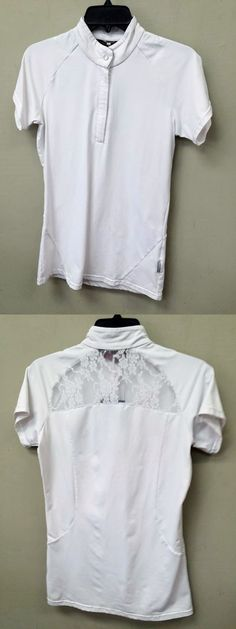 English Show Shirts 183369: Horseware Ireland Sara Short Sleeve Competition Shirt - Ladies Large BUY IT NOW ONLY: $40.0