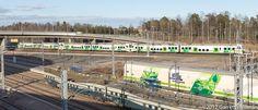 VR Yhtymä OY suomi graphic visual identity - Helsinki commuter rail