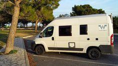 WHATABUS-Blogbeitrag über Anreise in Richtung Kanarische Inseln: Gut 2.600 km von München bis Huelva in 2 Tagen durch die Schweiz, Frankreich, Andorra und Spanien.