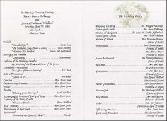 Timeless wedding RECEPTION program by RiverKissWeddings on Etsy ...