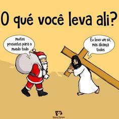 Cross is enough, Jesus Christ, santa clause. Christian Memes, Christian Life, Christian Cartoons, Faith Quotes, Life Quotes, Follow Jesus, Jesus Pictures, God Loves Me, Jesus Saves