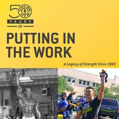 Here's to 50 years of putting in the work! #TBT