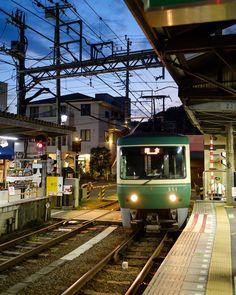 [OC] at Hase Station in Kamakura Aesthetic Japan, City Aesthetic, Japanese Aesthetic, Giant Truck, Japan Train, Japan Street, Trains, Kamakura, Japan Photo