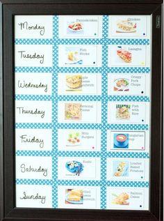 Cute menu calendar