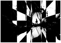 Monochrome illustrations by Kilian Eng