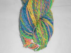 Handspun Hand Dyed Merino Wool 2 Ply Rainbow by SussesSpindehjrne, $41.50