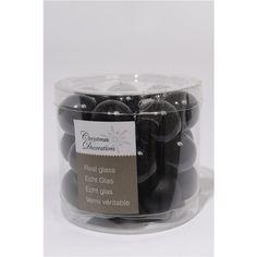 Mini Glasballetjes zwart