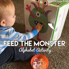 Feed the Monster Alphabet Review Activity. Both my toddler and preschooler loved feeding our monster. Letter M Activities.