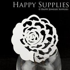 20pcs (PC009) Laser Cut Love Rose Place Card / Escort Card / Wine Glass Card / Party Decoration / Packaging - 18 Colors Available