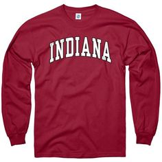 Indiana Hoosiers Adult Classic Arch Crewneck Sweatshirt ❤ liked on Polyvore featuring tops, hoodies, sweatshirts, crew-neck sweatshirts, crewneck sweatshirt, red crew neck sweatshirt, crew neck sweat shirt and red top